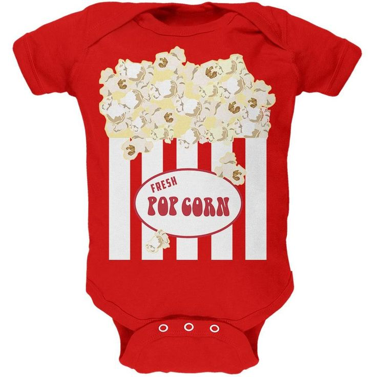 Halloween Popcorn Costume Soft Baby One Piece