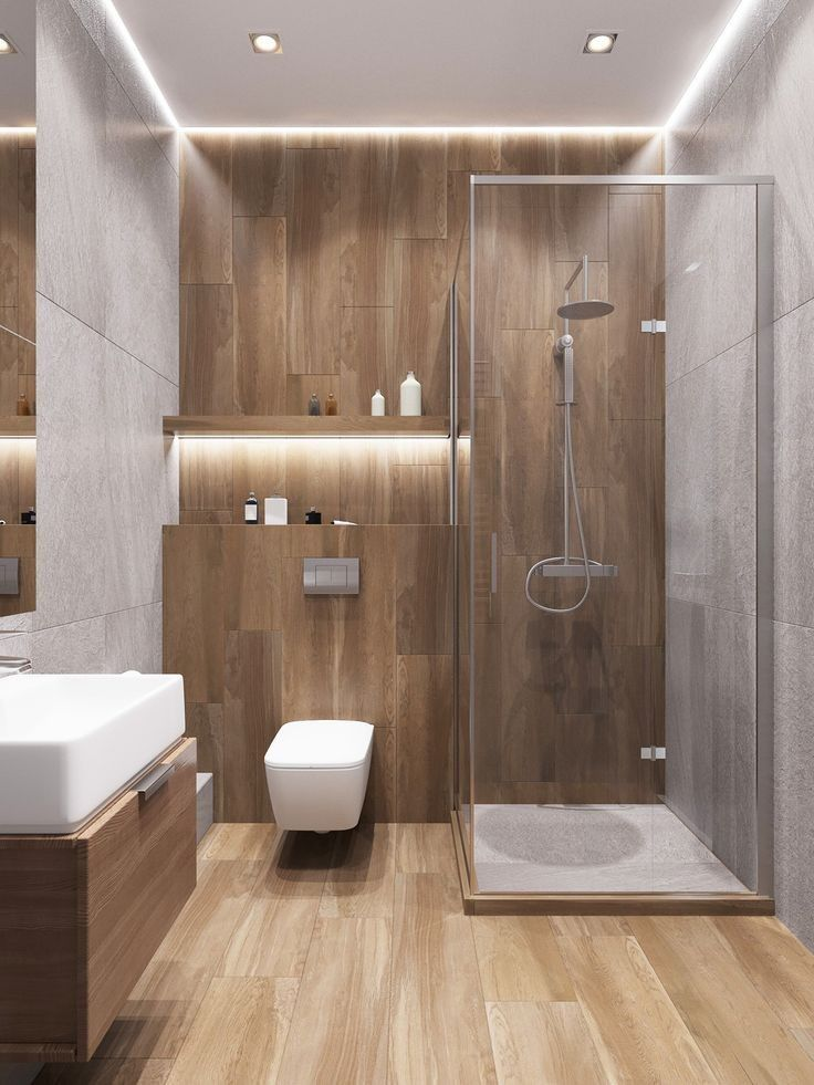 33 Ideen zum Umbau von Holzböden in Badezimmern 2