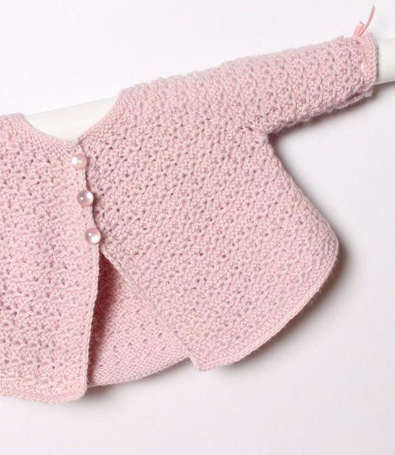 Baby Jacket English Instant Digital Download par LittleFrenchKnits