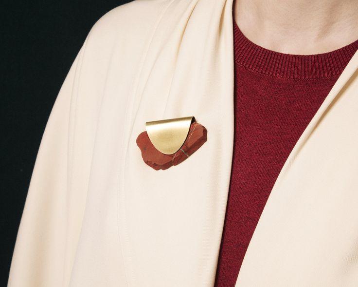 Classic Jasper Envelope brooch