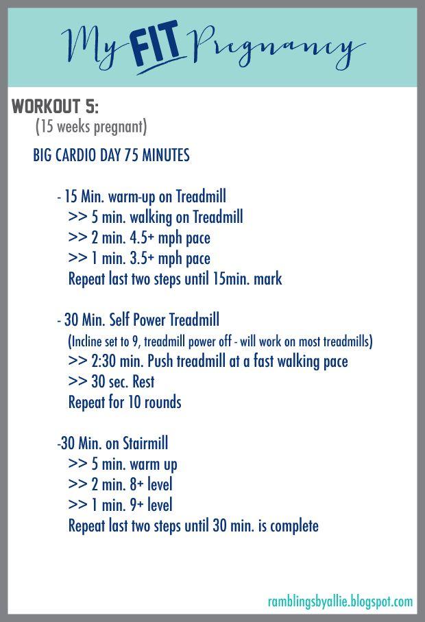 Fit Pregnancy, Pregnancy Cardio Workout, Second Trimester Workout, INTENSE CARDIO
