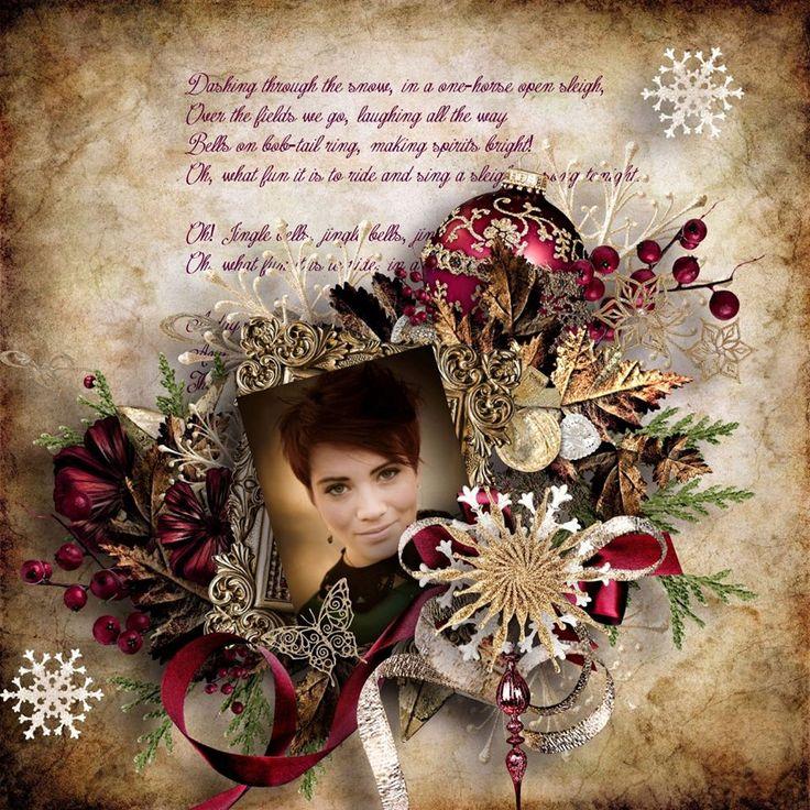 "NEW kit ""Christmas Angels"" by Doudou's Design - Geneviève Geerts http://digital-crea.fr/shop/index.php…"