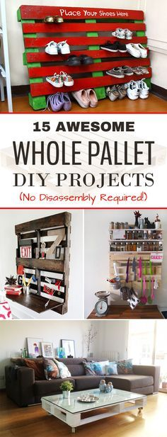 15 Awesome Whole Pallet DIY Projects (No Disassembly Required!)