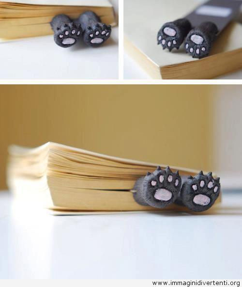 Segnalibro stile zampe di gatto