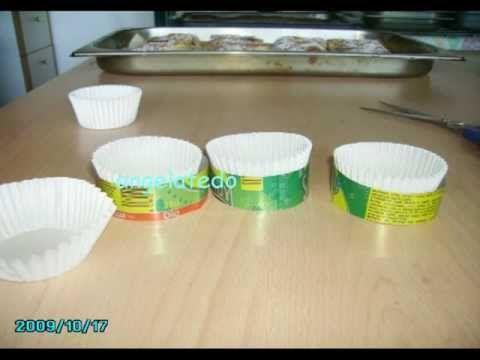 Lata de refresco, cómo hacer soportes para moldes de magdalenas. - YouTube
