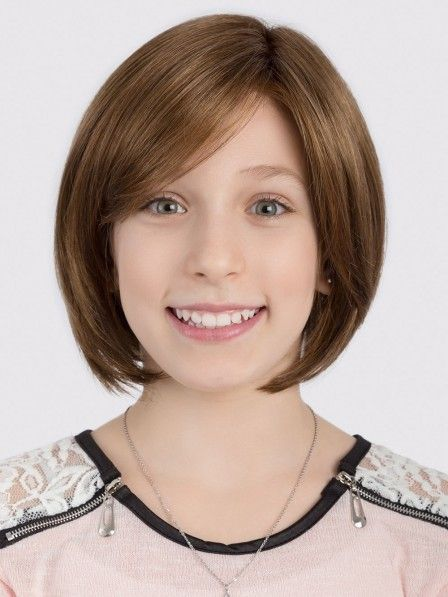 Cute Girl S Bob Hair Lace Front Mono Top Wig Kid S Wigs Wigs
