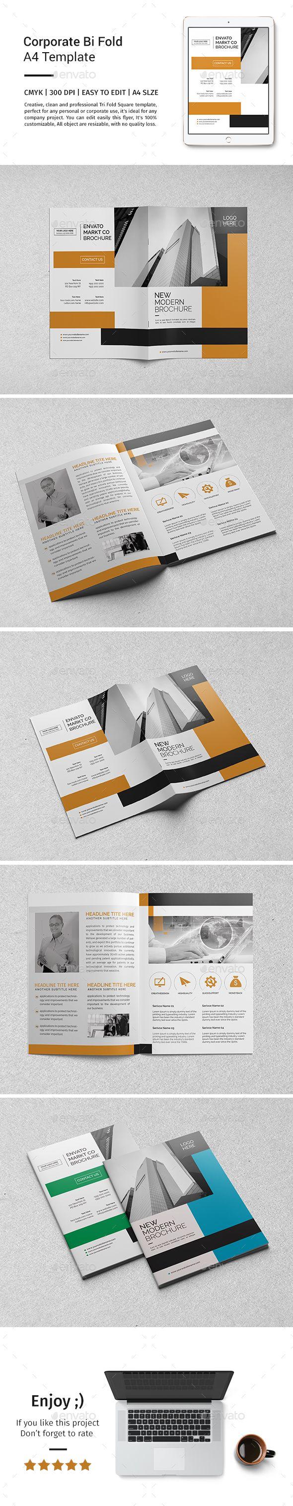 Corporate Bi-fold Brochure Template PSD. Download here: http://graphicriver.net/item/corporate-bifold-brochure-template-08/15622238?ref=ksioks