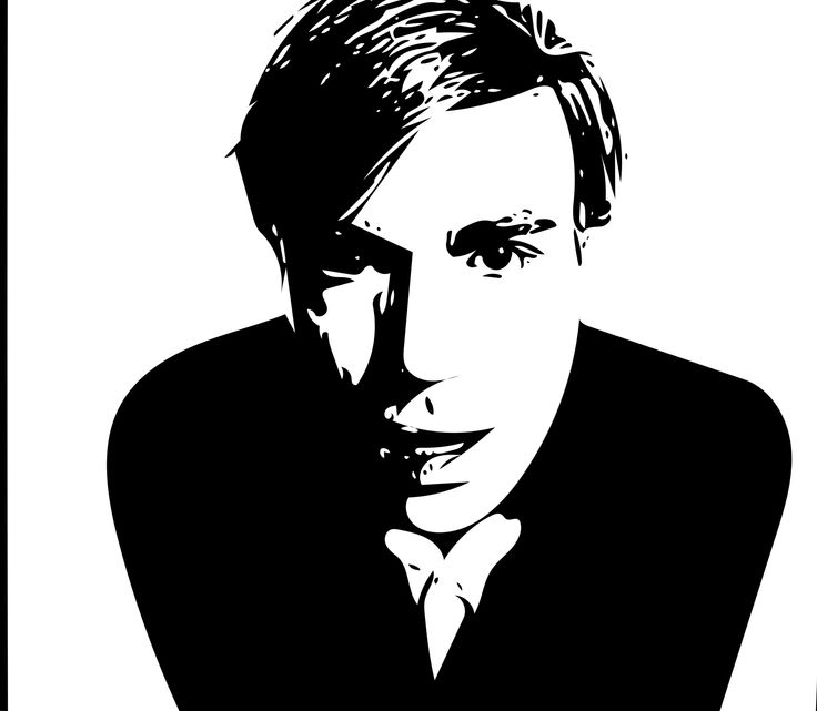 Andy Warhol #vectorgraphic #blackandwhite #portrait