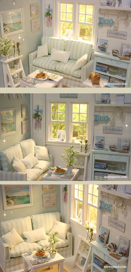♥ Custom Handmade Diorama BEACH SPIRIT ♥     Around 16 cm dolls: Middie Blythe, Lati yellow, pukifee , tiny betsy , licca, pure ne...