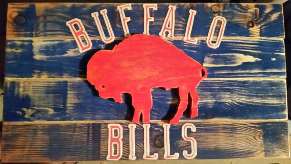 Buffalo Bills wood Flag ANY TEAM FLAG by ReclaimCountry on Etsy