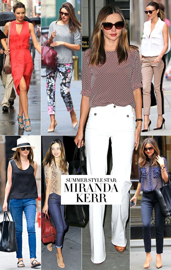 Bazaar Boards Miranda Kerr Summer Style Star