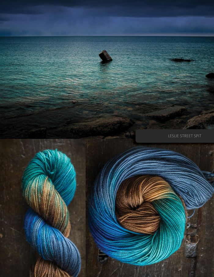 The Blue Brick yarns are lovingly hand-dyed, small batch skeins, each of which has been inspired by a photograph we took ourselves. The yarn and the photo are sold together, and the photo always ar…