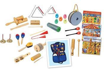 Percussion Instrument Set 3 Bonus CDs. A perfect 21 piece percussion set for any classroom