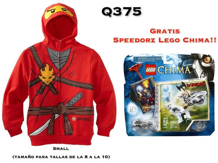 Lego Ninjago Sudadero promoción con Lego Chima Gratis