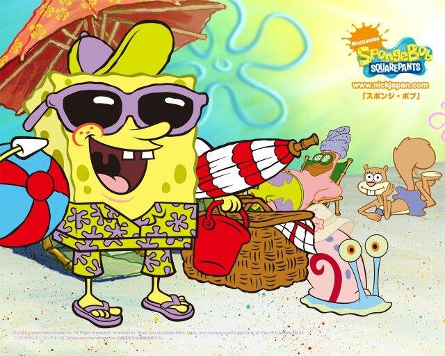 Spongebob, Gary, Patrick, and Sandy