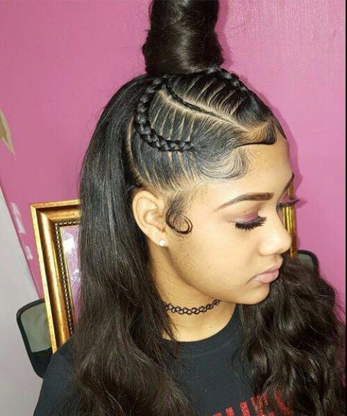 sewing hair style top bun sew in hairstyles projects to try hair 2146 | 790127f3259cc76b27380563878a148a