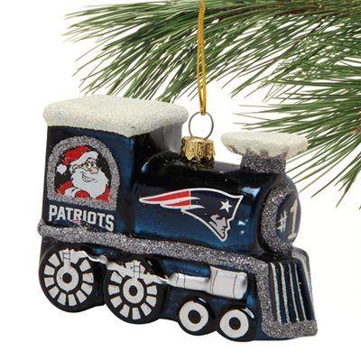 New England Patriots Train Ornament
