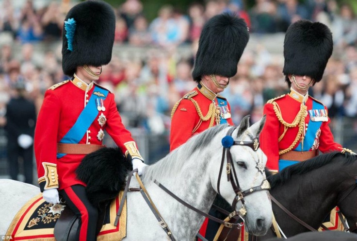 Their Royal Highneses The Duke of Cambridge, The Prince of Wales, and The Duke of Kent