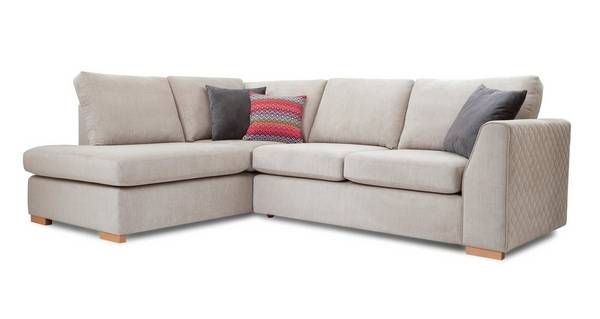 Tiki Right Hand Facing Arm Open End Corner Sofa Sherbet Dfs Corner Sofa Corner Sofa Bed