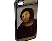iPhone 4 Case - Behold a Man - Behold a monkey - 'famous' fresco by Elias Garcia Martinez after 'restoration' - iPhone 4 4s Case. $12.99, via Etsy.