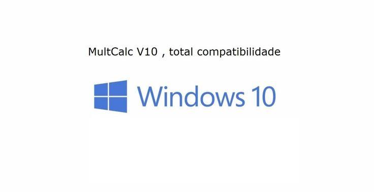 Novo MultCalc V10 , total compatibilidade Windows 10 - MultCalc V10 - Software Estrutural, Cálculo Estrutural, Concreto Armado, Programa Estrutural, Cálculo de vigas