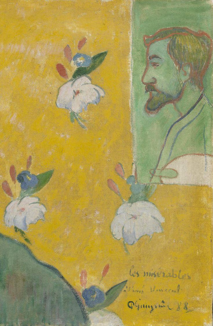 GAUGUIN Paul,1888 - Self-portrait with Portrait of Bernard, 'Les Misérables' - Detail 1
