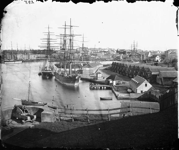 Circular Quay from Dawes Point Battery, Sydney, NSW, 1873.