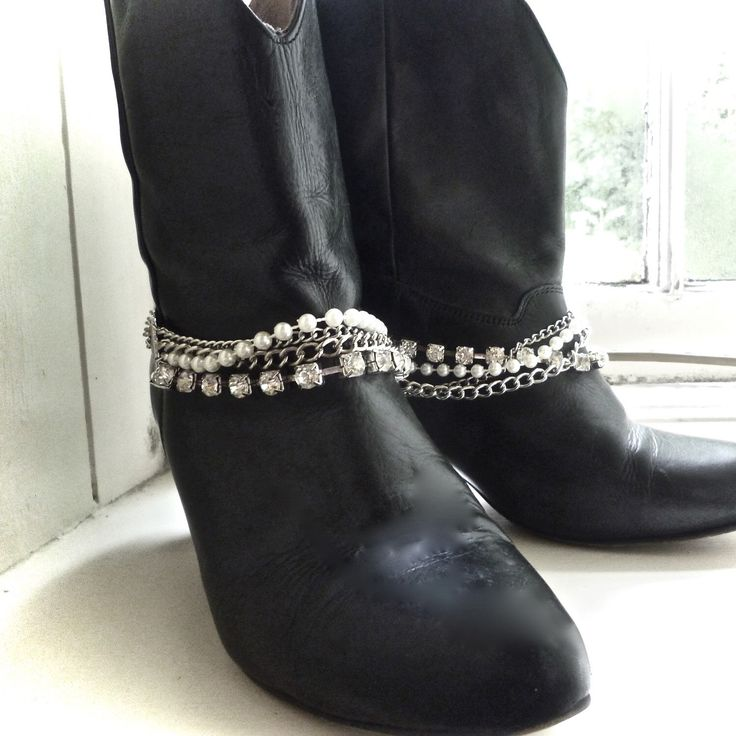Upstyle your boots with these gorgeous boot chains from www.bootbooti.etsy.com ✨