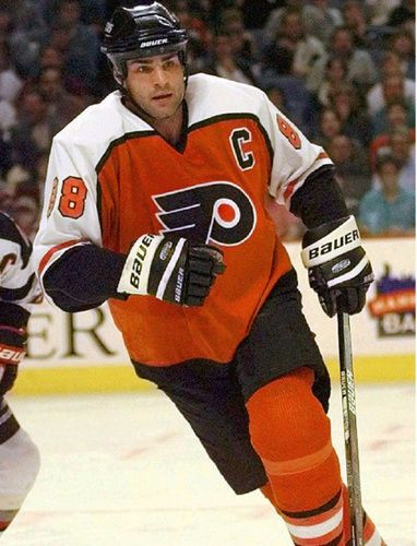 PHILADELPHIA—For 11 years, the final image of Eric Lindros in a Philadelphia Flyers uniform has been him curled in a fetal position, knocked cold after a brutal shoulder-to-jaw check from New Jersey's Scott Stevens.