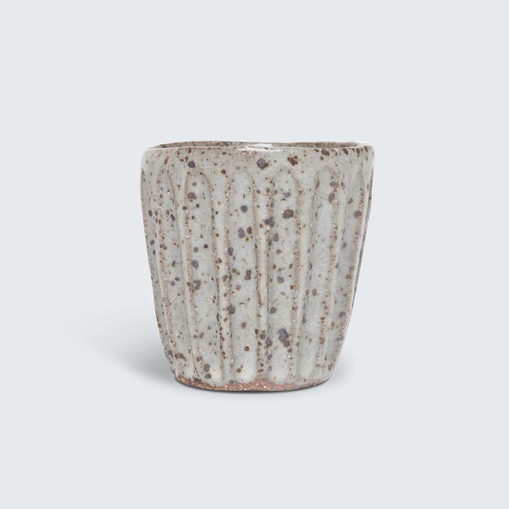 Beautiful hand-built ceramic beaker by Katia Carletti.