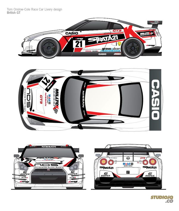 Nissan Gt R Nismo Gt3 Livery Design By Jonathan Quintin