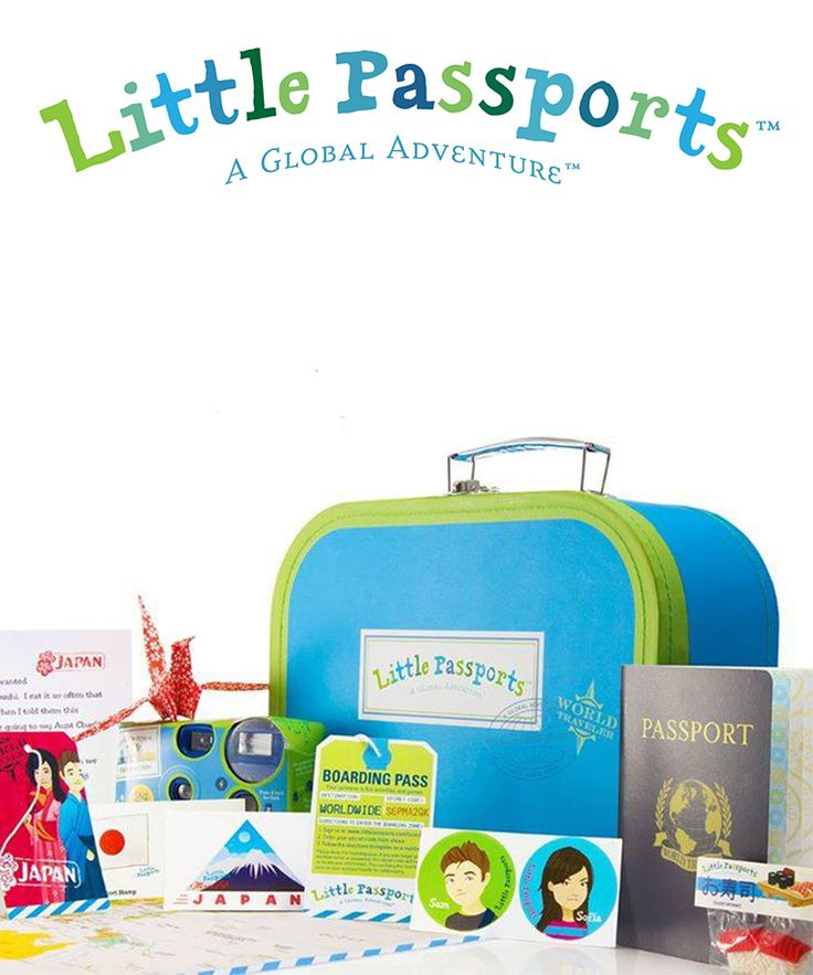 Inspire your child to learn about the world with a subscription to Little Passports! One country a month, packages arrive filled with letters, souvenirs, stickers, activities & more.