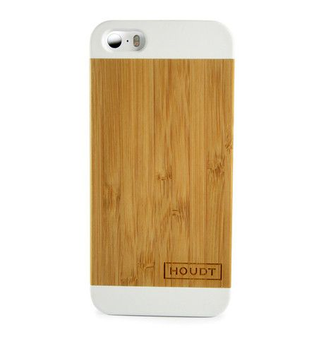 #iPhone 5/5S White Houdt Bamboo Case  #iPhone5 #iPhone5S #iPhonewoodencover #BambooiPhone