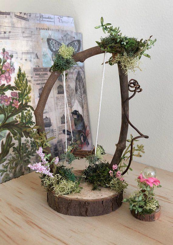 Fairy Swing von Olive * ~ Kleinste Fairy Swing ~ Handarbeit von Olive ~ Blick Ball …   – Fairies