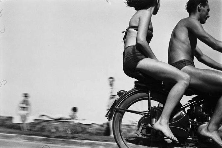 last-picture-show: Gabor Szilasi, Motorcyclists at Lake Balaton, 1954