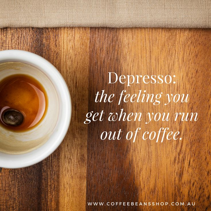 Don't get Depresso! We have this great coffee subscription where you have your coffee delivered each month. It's really easy and the perfect way to make sure you don't run out of coffee beans. Find out more here: http://coffeebeansshop.com.au/coffee-bean-subscriptions/ #coffeebeans #coffee #coffeelovers #goldcoast #coffeesubscription #coffeelove #coffeebeansshop
