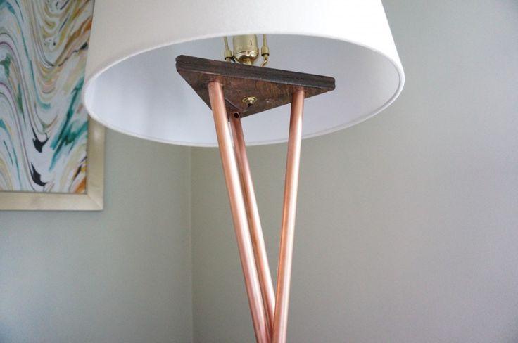 DIY Copper West Elm Floor Lamp | HomeWork Design Co.