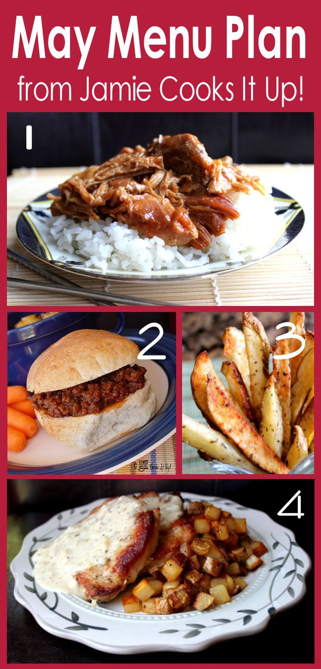 May Menu Plan from Jamie Cooks It Up!