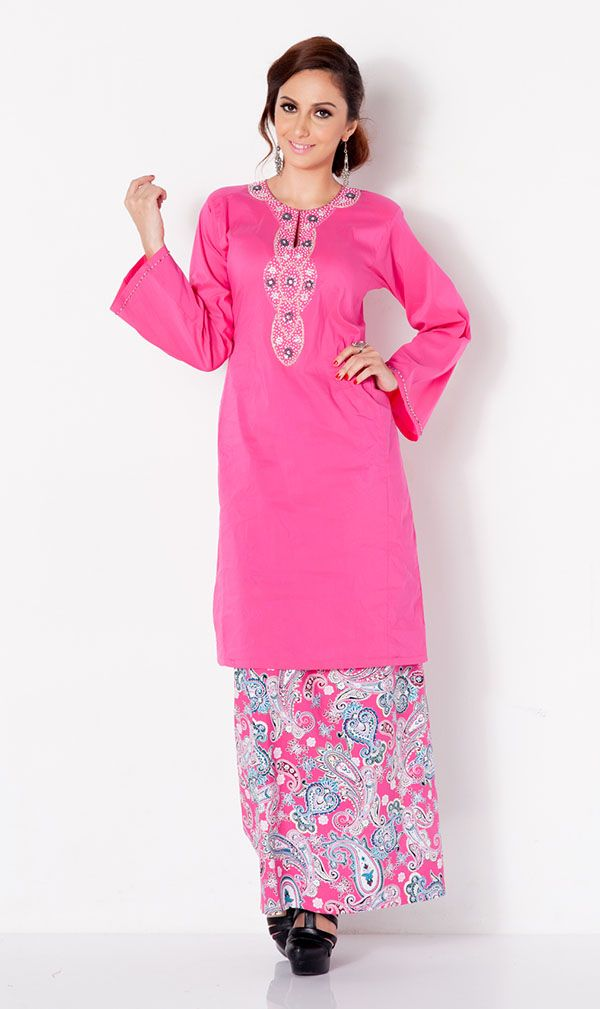 First Lady traditional pesak baju kurung