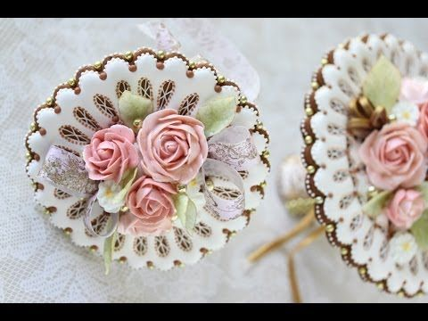 VIDEO: How to Assemble 3-D Cookie Wedding Bouquets (Part 2) by Julia M Usher. I made the cookie doilies for this project in Part 1 (last week), and now in this video, I assemble them along with royal icing roses, wafer paper leaves and ribbons, and more cookies into 3-D cookie bouquets that can pass for the real thing! 3-D sandwiching and the use of edible papers are the key techniques covered here. http://tinyurl.com/o95qtyk