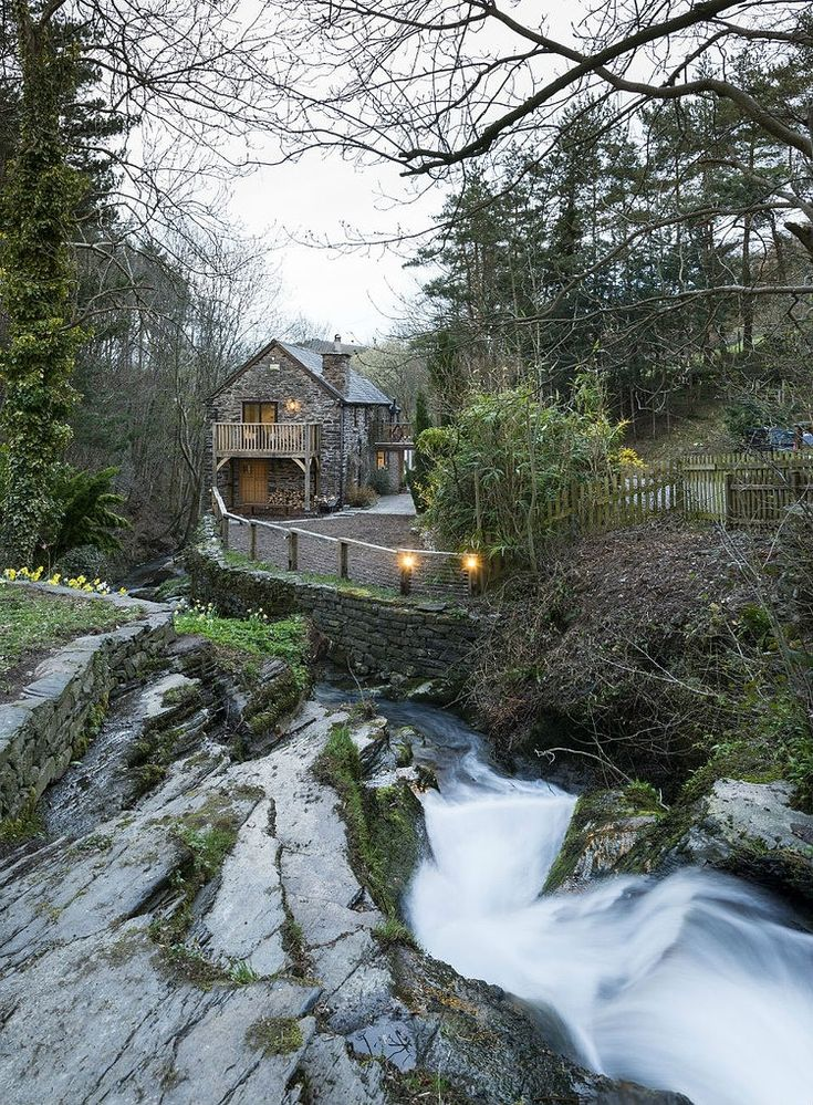 Beautiful 18th century water mill situated in Corwen, North Wales, turned into a house
