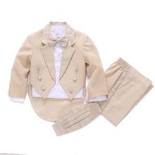 Boys wedding suits 5 pieces Blazers jackets set for Baby boys Prom suit Kids baby clothes Boys Blazer suit Boys wedding outfits //Price: $US $62.78 & FREE Shipping //     #woman