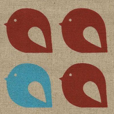 Kristen Doran Mollybirds Red & Aqua