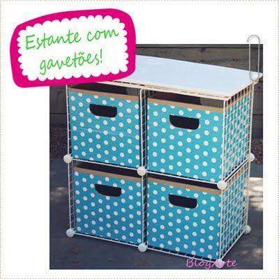 Faça você mesma: gaveteiro de papelão | Flickr - Photo Sharing!