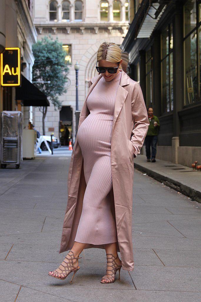 1 pregnant POPSUGAR editor walked in Kim Kardashian's shoes for a day.