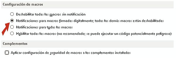 Seguridad de macros en Ms Office