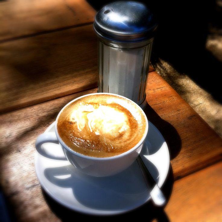 Sunshine and coffee at Macadamia Castle.