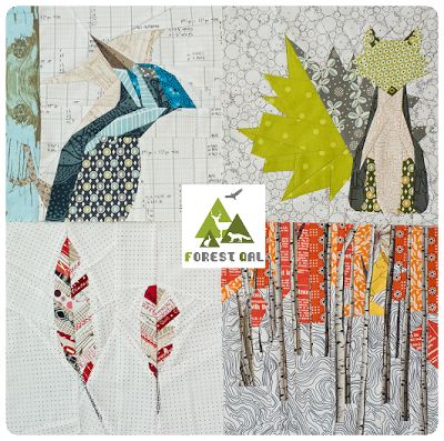 Super cute paper piecing patterns - Forest QAL | Projektownia Jednoiglec