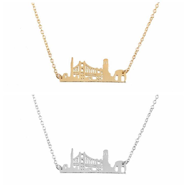 2016 Новая Мода Городской Лондоне Кулон Ожерелья для Женщин Длинные Цепи…