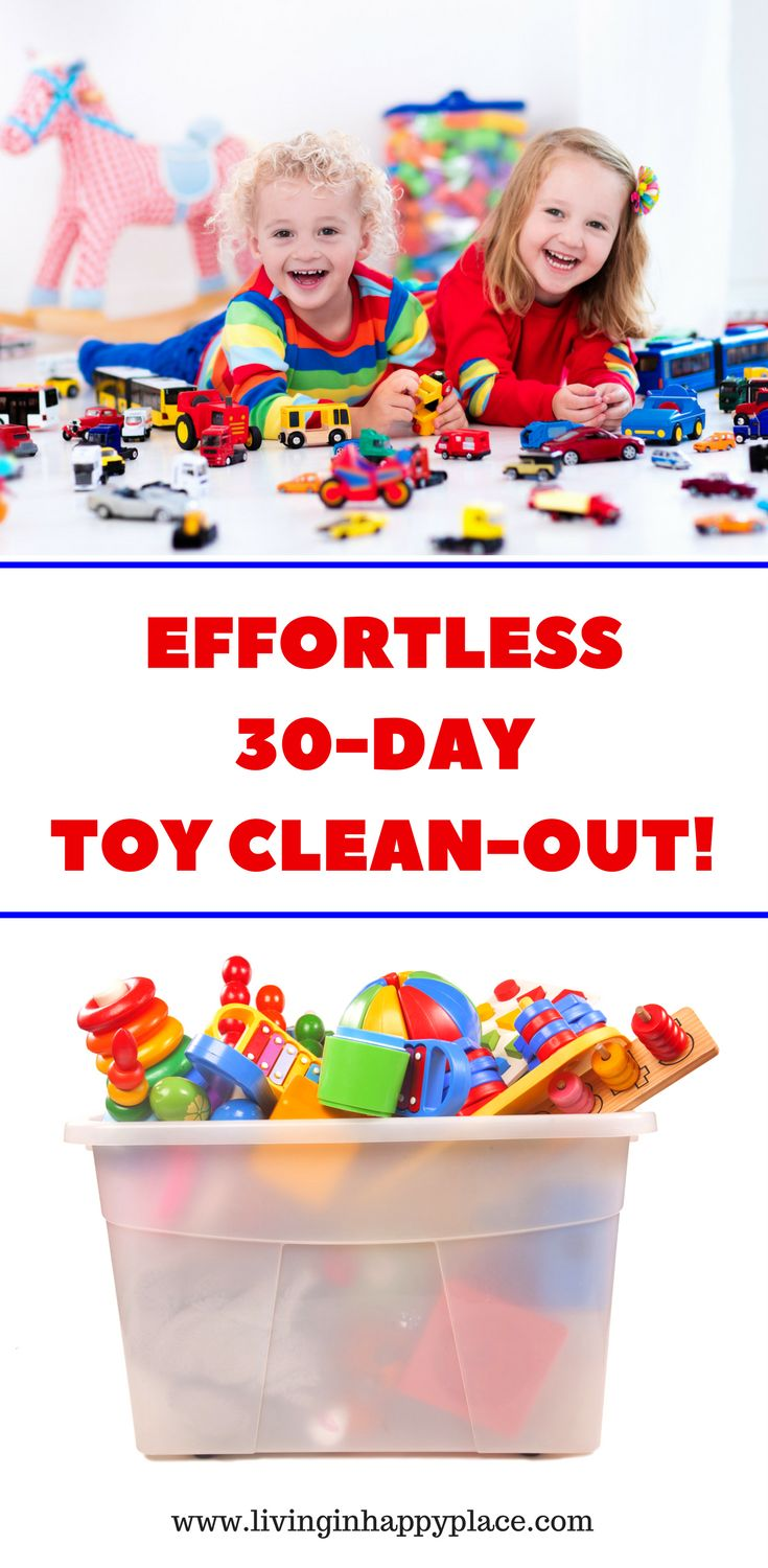 Effortless toy clean out idea to purge toys and get kids to play with toys